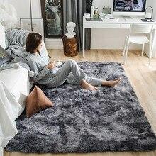 Пестрые плюшевые ковры для гостиной, мягкий пушистый ковер, домашний декор, мохнатый ковер для спальни, дивана, журнального столика, напольный коврик, коврик для гардеробной