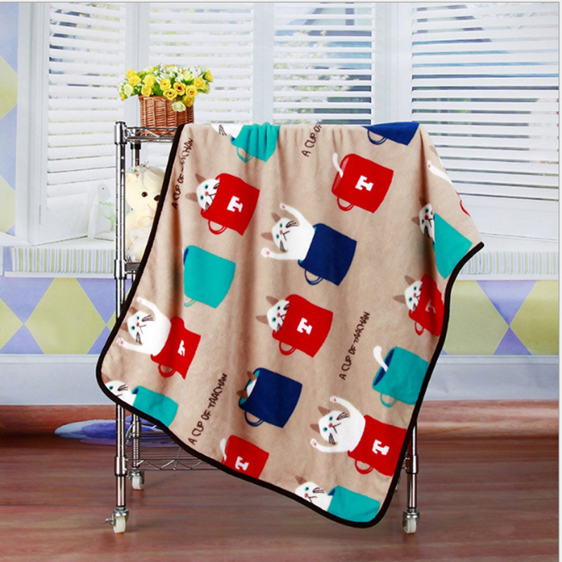 Super Soft Flannel Pet Blanket Bed Thicken Dog Cushion Puppy Kitty Shower Towel Cute Home Rug Warm Sleeping Cover Pet Supplies 7