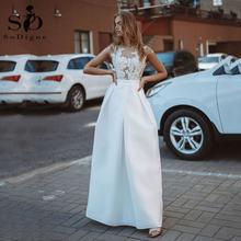 Sodigne богемное пляжное свадебное платье 2021 пикантные простой