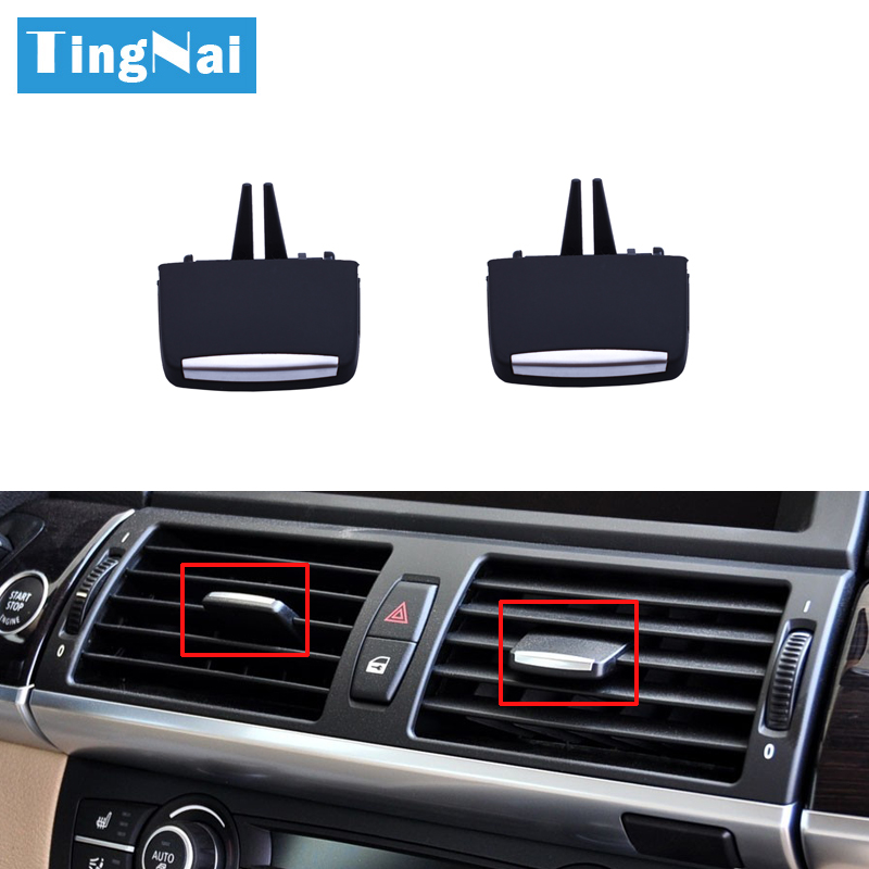 Front Rear AC Air Conditioner Vent Grille Outlet Slider Clips Repair Kit For BMW X5 X6 E70 E71