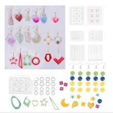 Silicone Resin Kits Jewelry Casting Mold Tools Set Included Jewelry Pendant Moulds, Stud Earrings, Eye Screw Pins And Making(China)