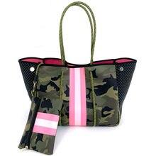 Grand sac à main en néoprène pour femmes, sac à bandoulière de luxe, à la mode, espagne, pour voyage, plage, vacances