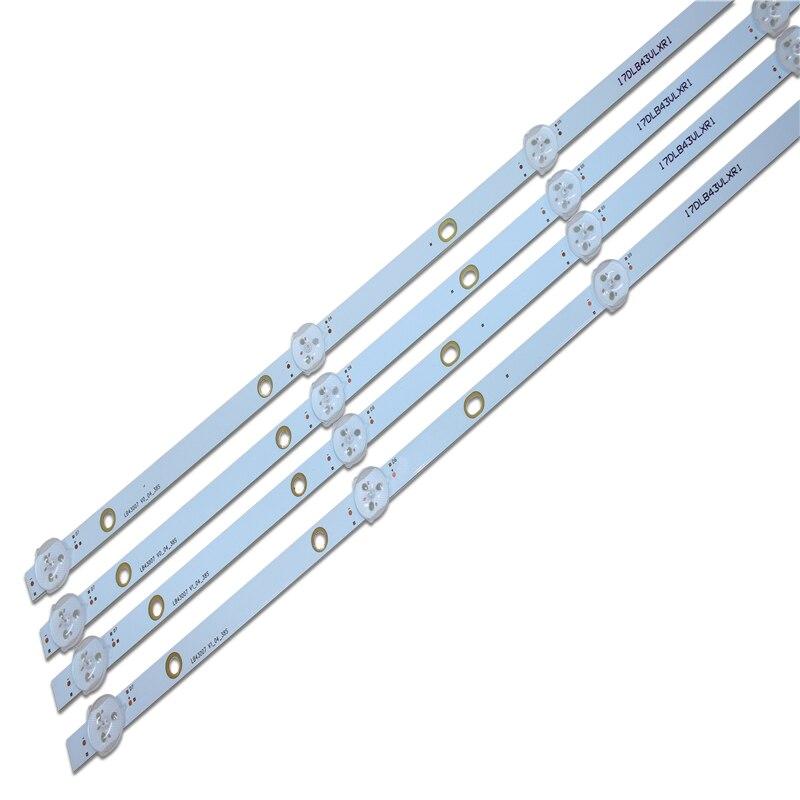 New 8 PCS/set 7LED 805mm LED Backlight Strip For Vestel 17DB43H P43d300 LB43007 17DLB43VLXR1 VES430UNDL-2D-N12 VES430UNDA-2D-N12