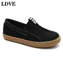 Solid Color Woman Flat Shoes Spring Loafer Round Toe Comfortable Soft Heel Shoes Feminino Zapatos De Mujer 2019 Casual shoes