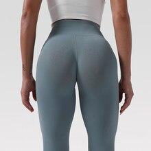 Spor Legging kadınlar spor koşu spor salonu ince Yoga pantolon yüksek bel Push Up streç egzersiz yeni yan nokta baskılı tayt tayt