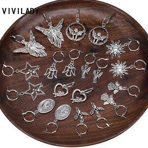 VIVILADY, романтическая подвеска в виде ангела, феи, гения, солнца, звезды, для женщин, висячие серьги, милые, шикарные, для девушек, влюбленных, ве...