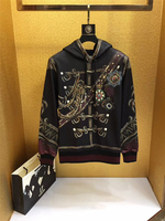 autumn new fashion arrival designer hoodies sweatshirts badges royal print clothing outwear coat for men punk style