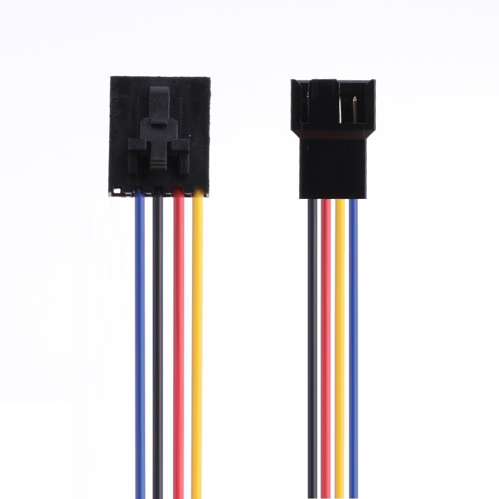 5pin fêmea para 4pin macho adaptador de refrigeração ventilador conector conversor cabo extensão fio para dell pc portátil