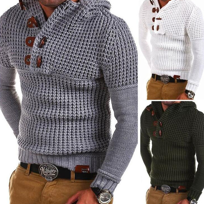 Autumn Mens Sweaters 2019 Long-sleeved Sweater Foreign Warm Casual Cotton Pullovers