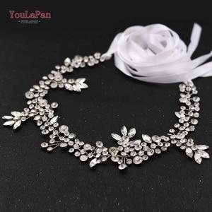 Image 3 - TOPQUEEN SH259 Silver Diamond Belt Bridal Belt Purple Rhinestone Belt Wedding Sash Belt Floral Bridal Sash Belt White Bride Belt