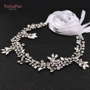 Image 3 - Topqueen sh259 prata diamante cinto de noiva cinto de strass roxo cinto de faixa de casamento floral nupcial cinto de faixa cinto de noiva branco