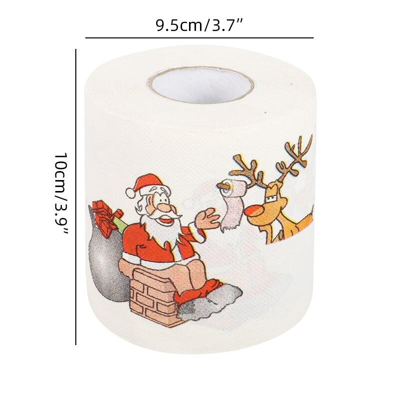 Rollo De Papel Higiénico De Papá Noel Decoración Navideña Para El Hogar Pañuelos Con Estampado De Navidad Año Nuevo Colgantes Y Adornos En Forma De Gota Aliexpress