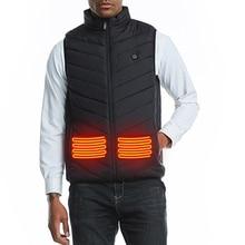 Мужчины Осень Зима Смарт Отопление Хлопок Жилет USB Инфракрасный Электрический Отопление Жилет Женщины Открытый Гибкий Тепловой Зимний Теплый Куртка
