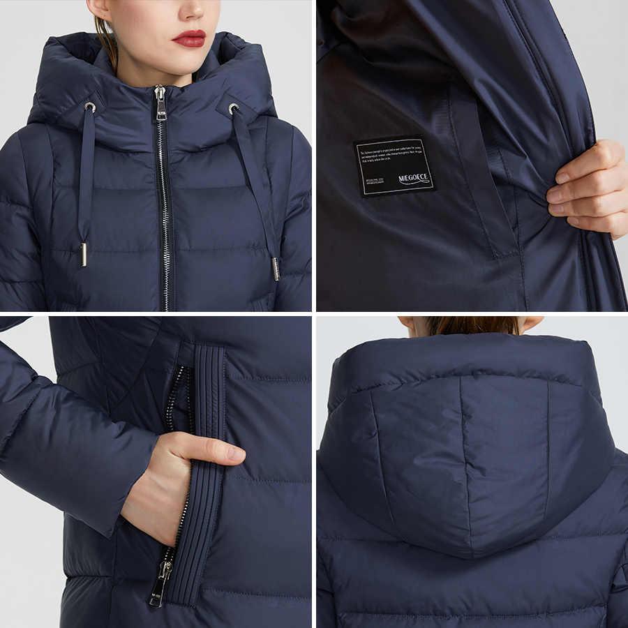 MIEGOFCE 2019 Nieuwe Winter Vrouwen Collectie Jas Ladie Winter Jas Hieronder Knielengte Warme Jas Met Kap Beschermen Ffrom Wind koud