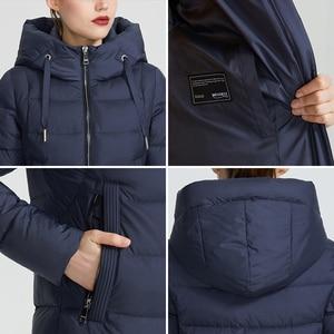 Image 5 - MIEGOFCE 2020 חדש חורף נשים אוסף מעיל Ladie חורף מעיל מתחת הברך אורך חם מעיל עם ברדס להגן על Ffrom רוח קר