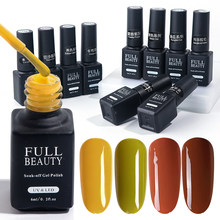 6 Ml Nail Gel Lacquer Labu Caramel Cat Kuku Kuning Mustard Warna Hijau Mantel DIY Uv Gel Varnish untuk Manikur seni BENG01-06(China)
