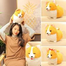 Soft Plush Toy Cute Standing Bowknot Corgi Dog Plush Stuffed Doll Toy Home Sofa Cushion Decor Toys For Kids Doll Gift plush toy dog cute puppy doll toy doll can be used for wedding gifts for children s gift kids toys free shipping