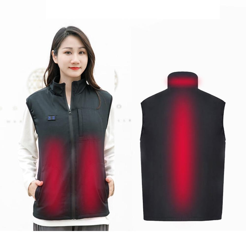 2019 nova carga usb quente roupas casaco de poliester duplo controle inteligencia temperatura constante de aquecimento