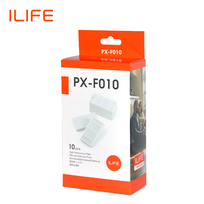 ILIFE V55Pro V5sPro V3sPro V60Pro 10Pcs Filter Pack Spare Parts Replacement Kit PX-F010 1