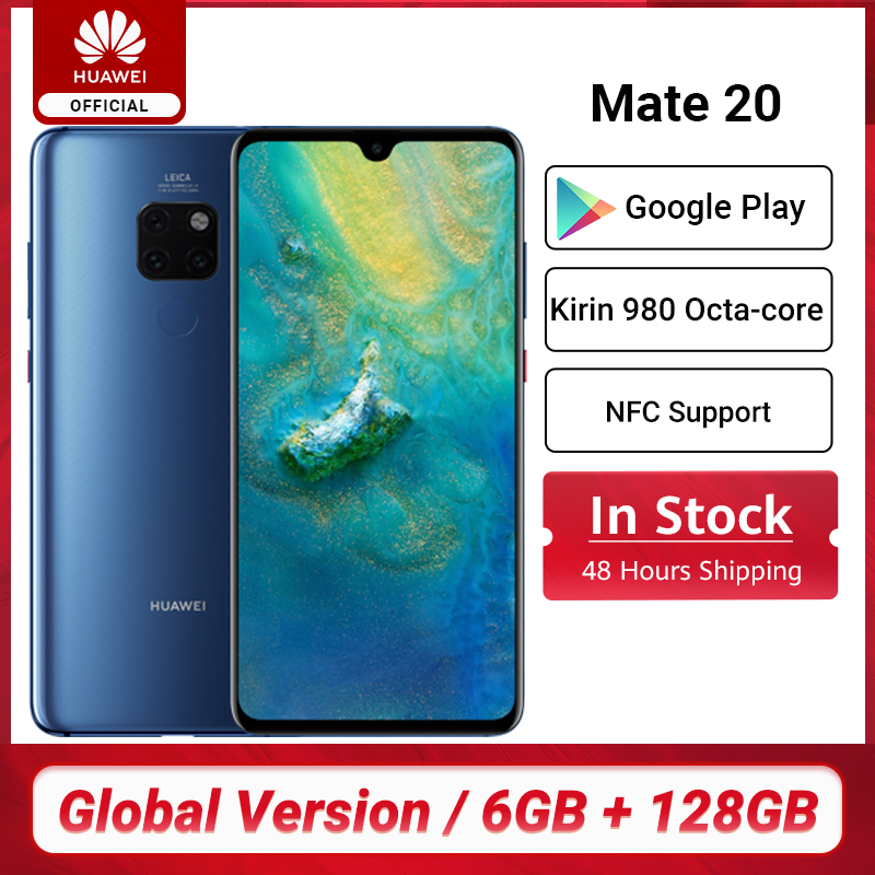 Versión Global HUAWEI Mate 20 Smartphone 6GB 128GB teléfono móvil de 6,53 pulgadas del teléfono móvil Kirin 980 NFC Kirin 980 Octa Core EMUI 9,0 de 4000mAh Teléfonos móviles  - AliExpress