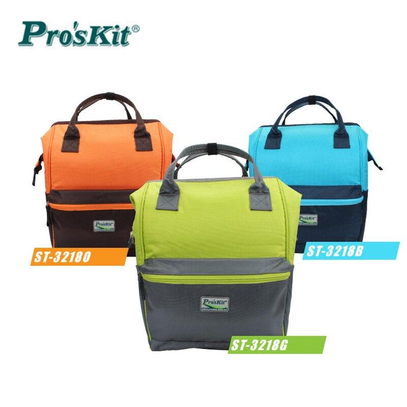 Proskit coloré mode outil sac à dos ordinateur affaires professionnel trousse à outils électricien sac à outils outil de stockage sac de travail