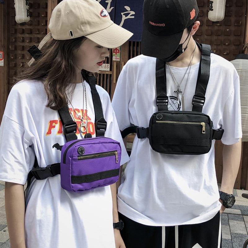 Men Women Chest Rig Waist Waist Pack Streetwear Hip-Hop Fashion Vest Tactical Harness Chest Bag