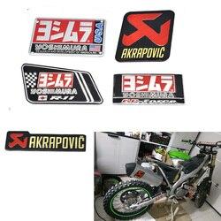 AKRAPOVIC Aluminium żaroodporne motocyklowe rury wydechowe kalkomania dla sc ar Yoshimura Akrapovic Leovince w Rury i układy wydechowe od Samochody i motocykle na
