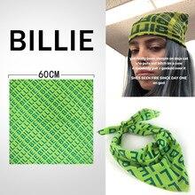 Billie Eilish Bandana Headband Hair Band Cosplay Headwear Hip-hop Green Square Scarf