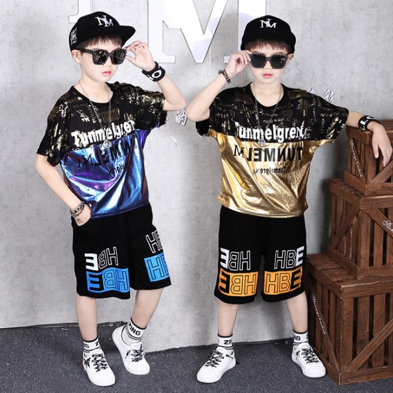 Teenage Children Boys Clothing Set Summer 2021 Letter T Shirt Hawaiian Shorts Teens Kids Boys Clothes For 6 8 10 12 13 14 Year 3