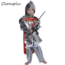 Clomplu Anime Cosplay Knight Halloween Costume For Kids Boys Party Show Holiday Sets Top&Pants&Hat