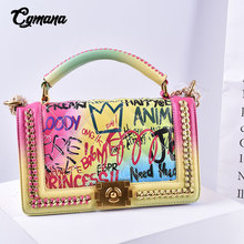 Graffiti Classic Chain Bags For Women 2019Luxury designer Shoulder Fashion Brand Crossbady Messenger