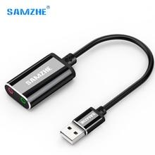 USB خارجي كارت الصوت 3.5 مللي متر USB محول USB إلى ميكروفون المتكلم جهاز التحكم في الصوت ل PS4 الكمبيوتر المحمول USB كارت الصوت