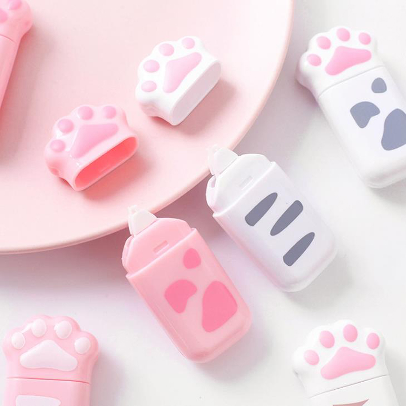 1 Pcs Kawaii Colorful Cat Claw Paw Magic Decorative Correction Tapes Diary Corrector Stationery Office School Supply Gift