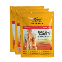 Купить с кэшбэком Tiger Balm Patch Plaster/Tiegao, Warm Medicated Pain Relief,Plaster-RD,Relief of Muscular Aches and Pains  10 x 14 cm 9 Sheets
