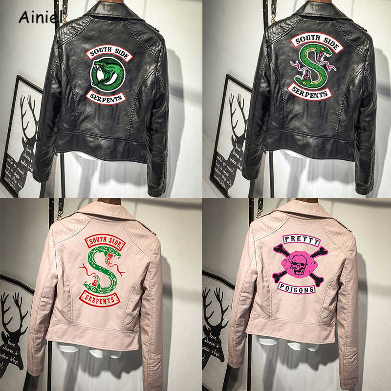 Jacket Riverdale Coat South Side Serpents Riverdale Southside PU Leather Jackets Serpents Streetwear Leather Outwear Coat Women