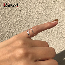 Kinel French 2020 New 925 Sterling Silver Ring Woman Jewelry Minimalist Open Tail Ring 925 Silver kinel popular 925 sterling silver ring minimalist style retro old thai silver woven open ring for women gifts korean jewelry