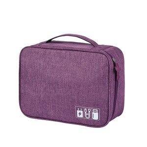 Image 3 - HJKL bolsa Digital para accesorios de viaje, Cargador USB, bolsa de almacenamiento para auriculares, organizador electrónico grande a prueba de golpes