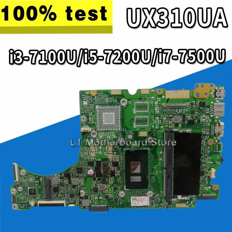 UX310UA Motherboard I3-7100U/i5-7200U/i7-7500U For ZenBook ASUS UX310U UX310UA UX310UV UX301UQ Laptop Motherboard (Exchange)! !