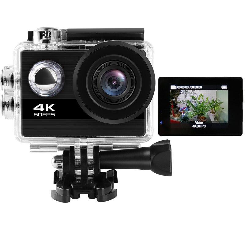 24MP WiFi Action Kamera Ultra HD 4K 60FPS 2,0 ''IPS Bildschirm Sport Kamera Unterwasser Wasserdichte gehen extreme pro sport Video Kamera