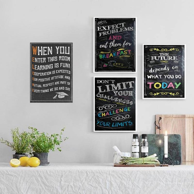 Вдохновляющий постер на английском языке, картина, мотивационный плакат, школьная офисная классная комната, для стен, картины для школьников, школьниц