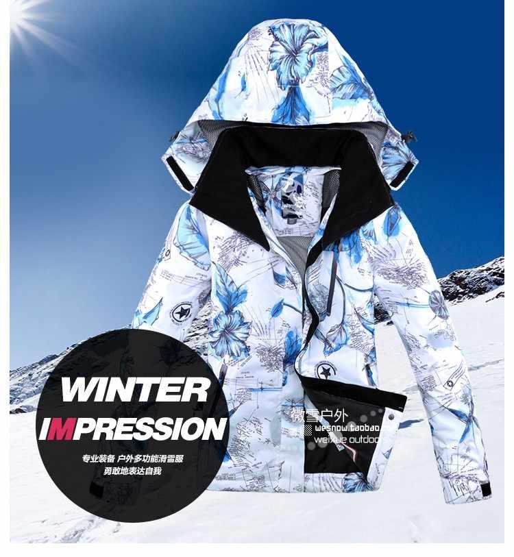 Mới Dày Ấm Trượt Tuyết Phù Hợp Với Phụ Nữ Chống Thấm Nước Chống Gió Trượt Tuyết Và Trượt Ván Trên Tuyết Áo Khoác Quần Lót Nữ Tuyết Trang Phục Ngoài Trời Chống 30