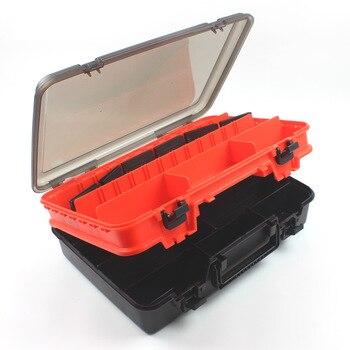 цена на Fishing Lure Box Multifunctional large-capacity fishing tackle box double-layer fishing lure box portable fishing tackle storage