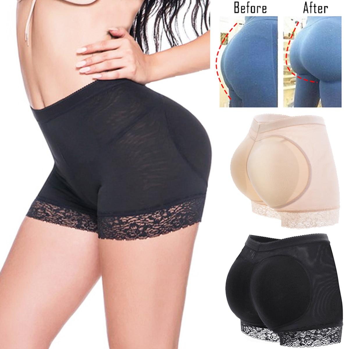 Women Padded Seamless Butt Lift Hip Up Enhancer Shaper Panties Underwear Shorts