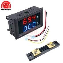 Цифровой светодиодный мини-дисплей, Вольтметр постоянного тока 100 в 10 А, автомобильный амперметр, панельный амперметр, измеритель напряжени...