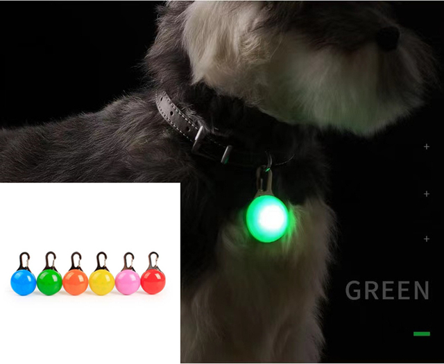 LED Pet Collar Pendant - Dog Cat Puppy Safety - Perfect For Night Walking  1