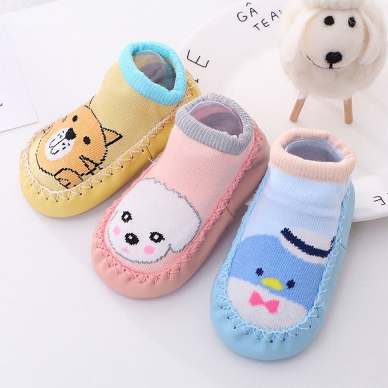 Baby Socks With Rubber Sole Casual Fashion Children Cute Cartoon Stockings Kids Non-Slip Cotton Floor Socks