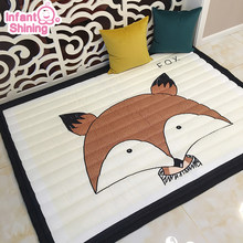Infant Shining Baby Play Mats Kids Crawling Carpet Playmat for aby Cotton 2.5CM Thick Soft Mat No Smell Safe Blanket Rug(China)