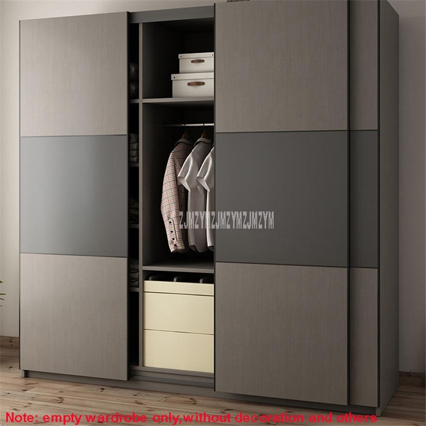 BK-W01 2m x 2m Style moderne armoire 3 porte latérale Design Louis mode Simple bois rangement combinaison armoire Simple Installation - 4