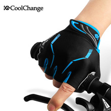 CoolChange – gants de cyclisme pour hommes et femmes, demi doigt, élastique, respirant, coussinet de GEL, gants de vélo, vtt, été