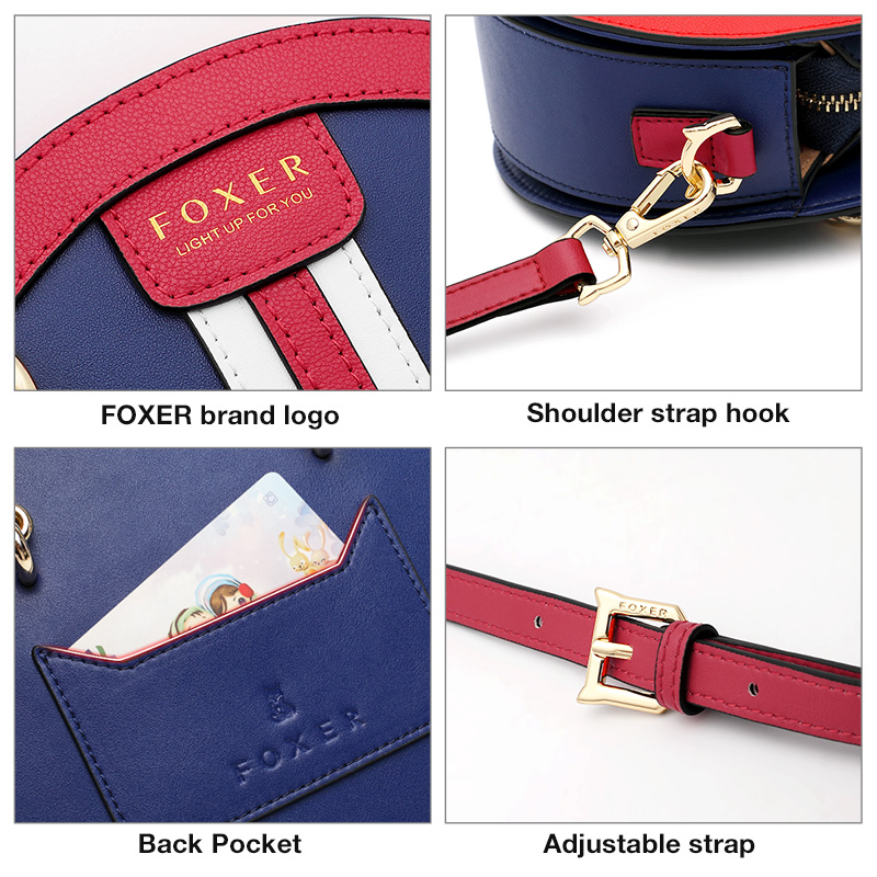 FOXER Crossbody-Bag Circular-Handbag Gift Round Small Female Girl Women's Lady for England-Style